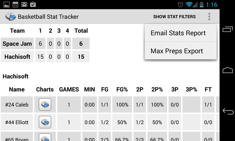 Basketball Stat Tracker for Android